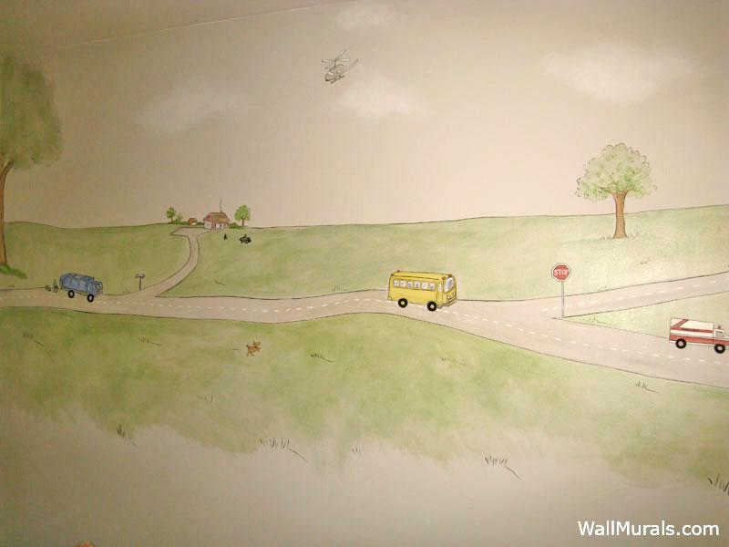 Transportation Wall Mural - Boys Bedroom