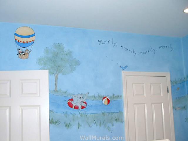Animal Wall Mural in Nursery