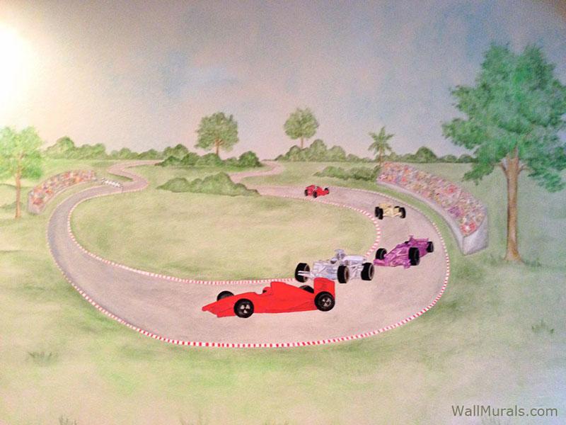 Race Car Mural for Boy