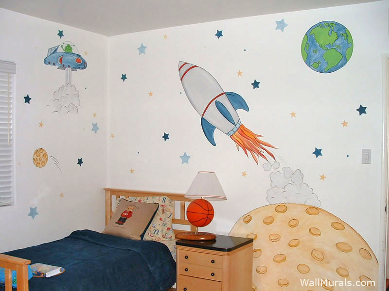 E Wall Mural Castle In Boys Bedroom