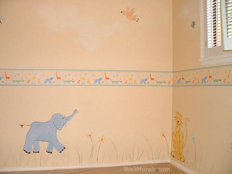 Baby Elephant Mural