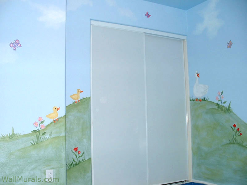 Nursery Mural with Ducks