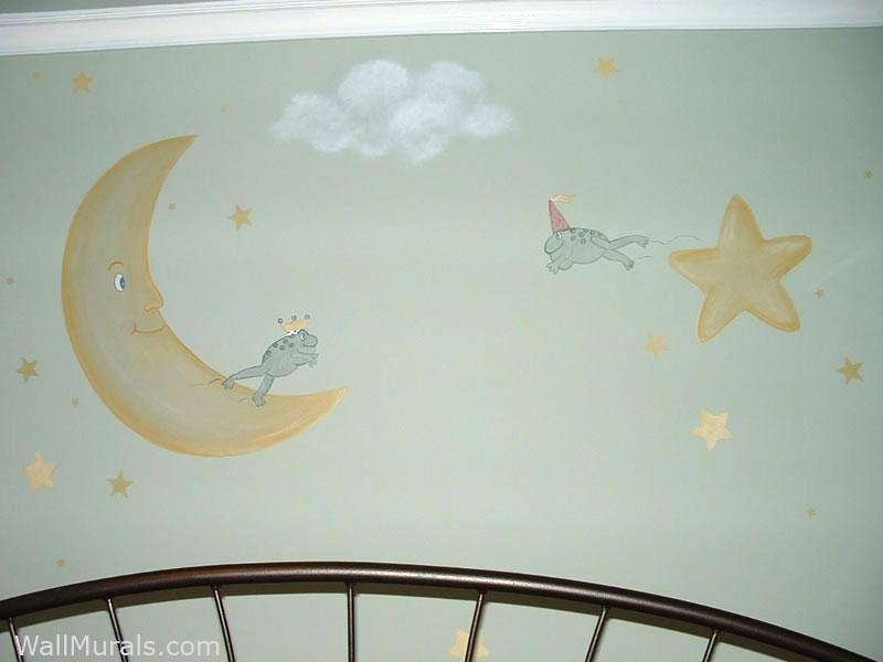 Royal Frogs - Nursery Wall Mural