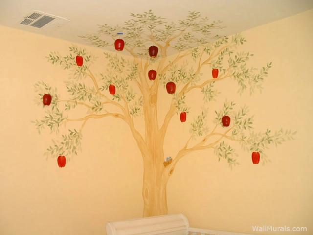 Apple Tree Wall Mural in Nursery
