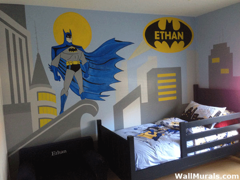 Boys bedroom wall murals 60 different examples of wall for Cityscape murals photo wall mural