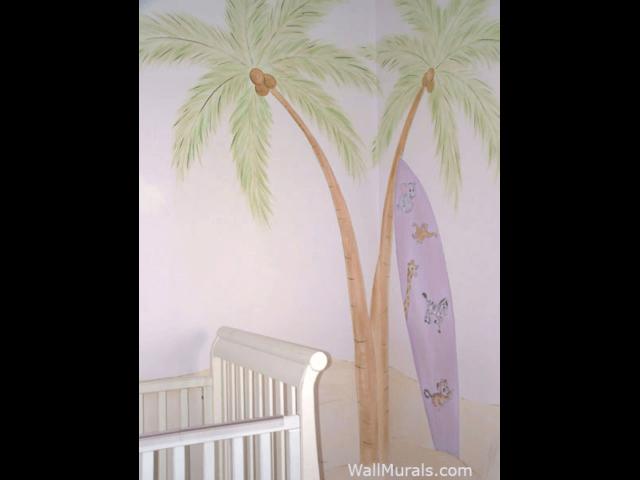 Surf Theme Mural in Nursery