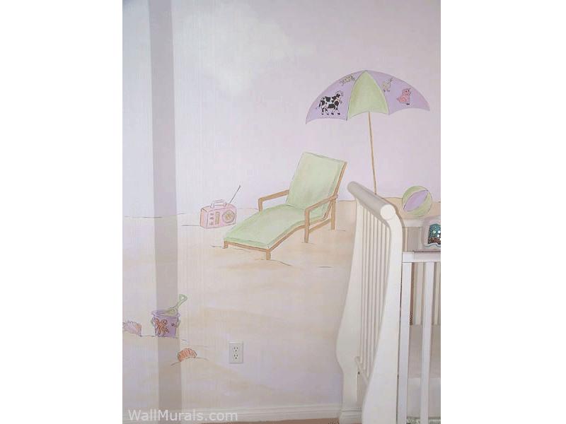 Ocean Mural in Baby Room