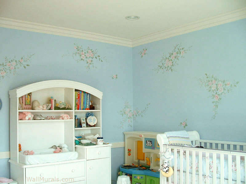 Flower Mural in Nursery