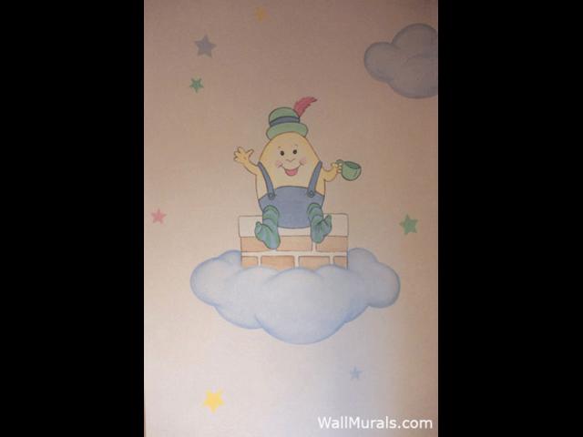 Humpty Dumpty Wall Mural in Nursery