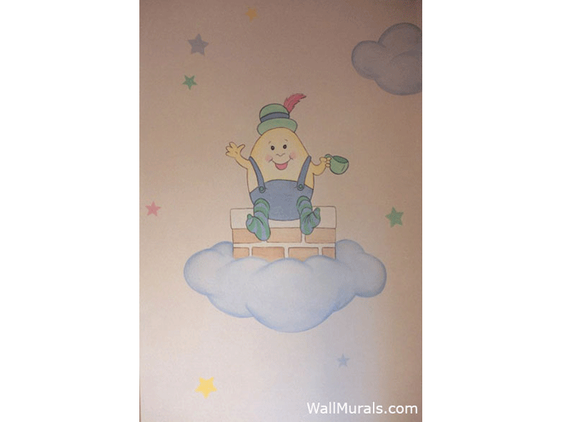 Humpty Dumpty Wall Mural in Nursery