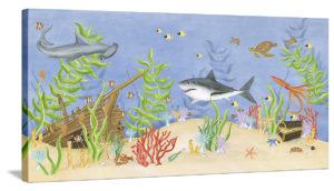 Shark Adventure - Canvas Wall Art