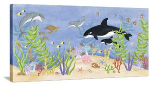 Underwater Friends - Canvas Wall Art