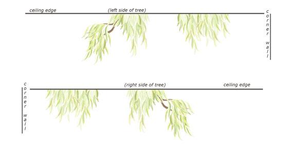 MINI -Willow Tree Border Decal - Layout Sheet