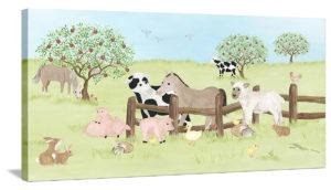 Farm Animal Friends - Canvas Wall Art
