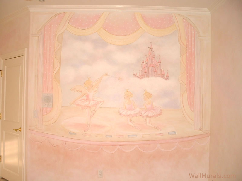 Ballerinas on Stage Mural - Girls Room