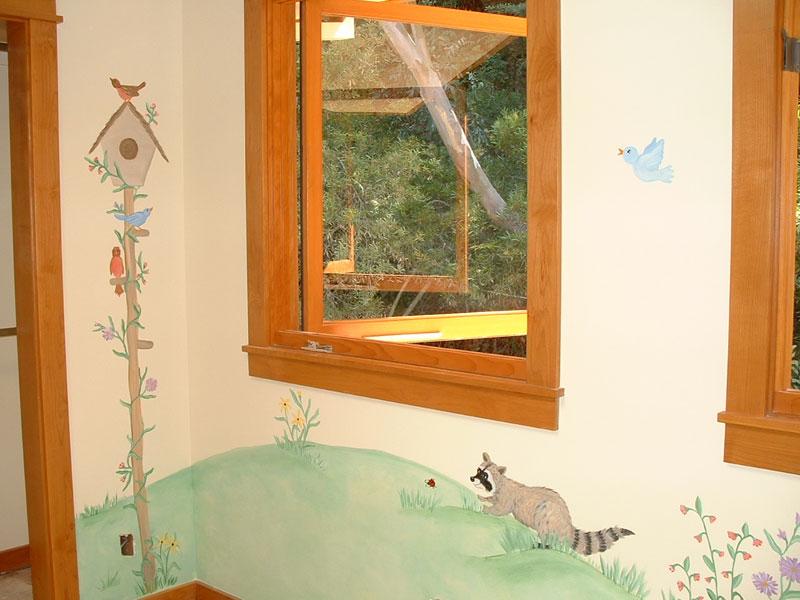 Bird House Mural - Racoon