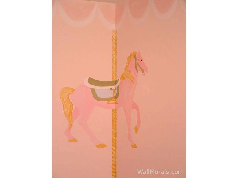 Carnival Horse Mural for Little Girl