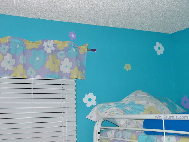 Daisies Painted to match Curtains