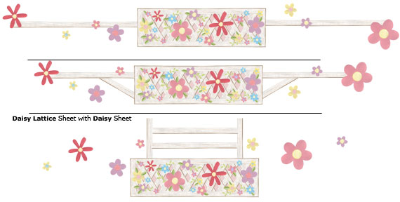 Daisy Wall Decals - Layout Sheet