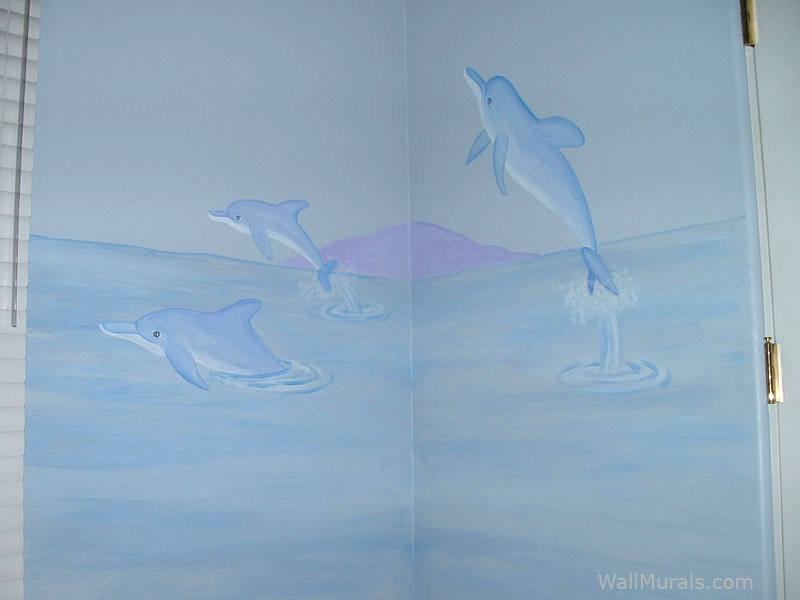Dolphin Wall Mural - Girls Bedroom