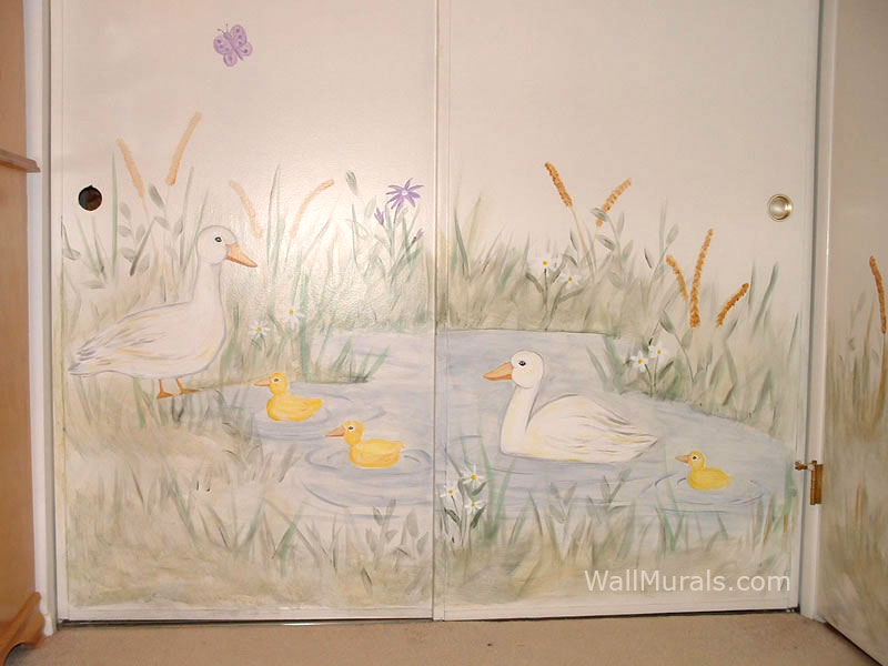 Duck Pond Mural on Closet