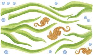 Eel grass Wall Decal Sheet
