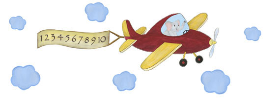 Elephant Explorer - Elephant Pilot - Airplane Decal - Layout Sheet