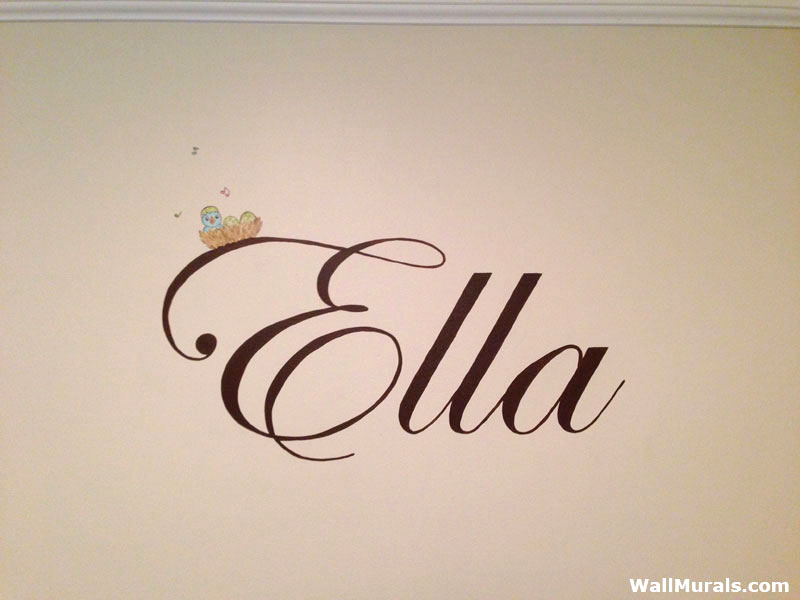 Painted Name on Wall