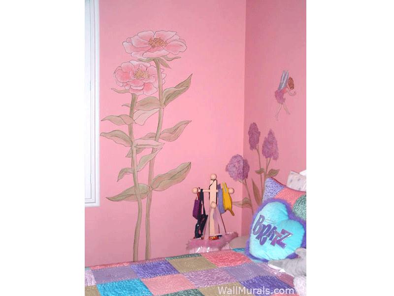 Flower Fairy Mural for Girls Bedroom