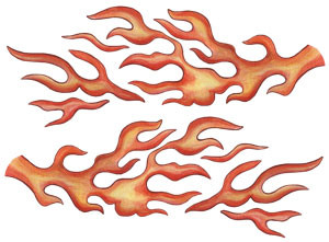 Flame Wall Decals