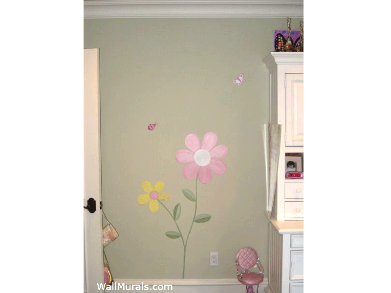 Flower Wall Mural - Girls Bedroom
