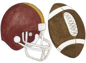Football & Helmet Wall Decals