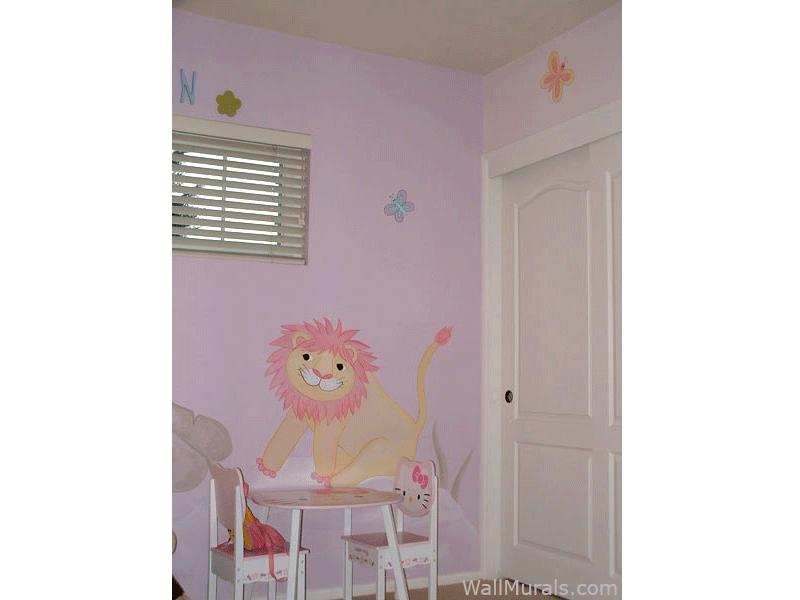 Daisy Jungle Mural for Girl