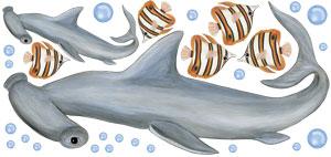 Hammerhead Shark Wall Decals