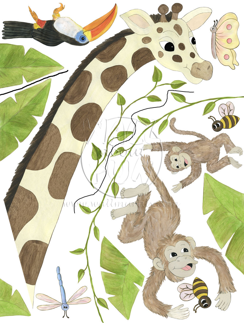 ... Jungle Theme; Jungle Animal Wall Decals ... Part 83