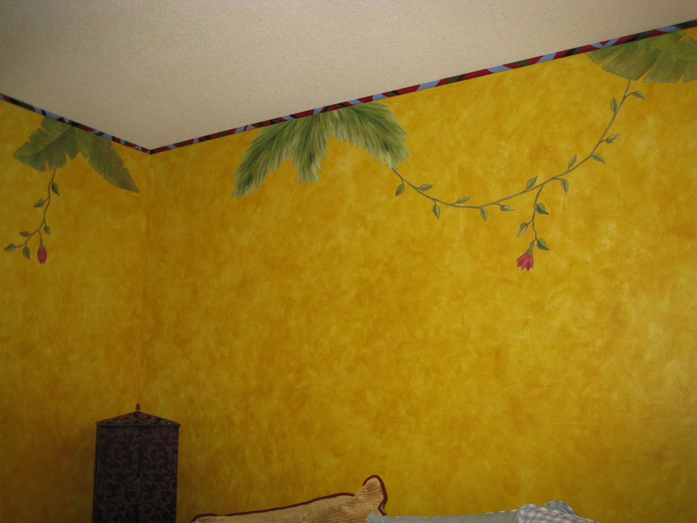 Jungle Leaves Vines And Flower Wall Decals Border