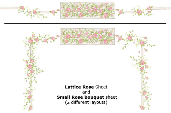 Rose Lattice Decals - Layout Sheet