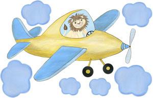 Sky King - Yellow Airplane - Decal Sheet
