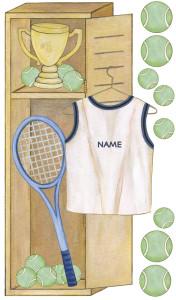 Personalized Tennis Locker (Close-up)