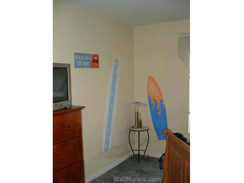 Surfboard Wall Mural for Girl