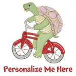 Personalized Turtle on Bike
