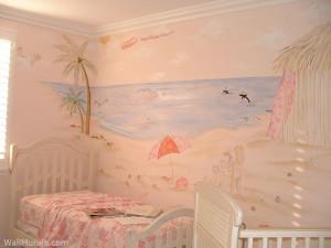 Pink Beach Mural