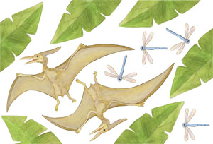 Pterodactyl Wall Decal Sheet