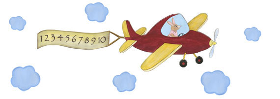 Sky Hopper - Bunny Pilot - Airplane Decal - Layout Sheet