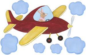 Sky Hopper - Red Airplane - Decal Sheet