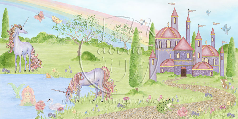 rainbow magic wallpaper mural