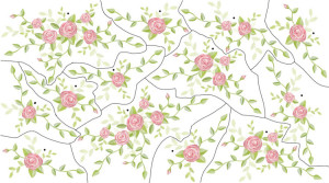 Large - Rose Bouquet Wall Decal Sheet