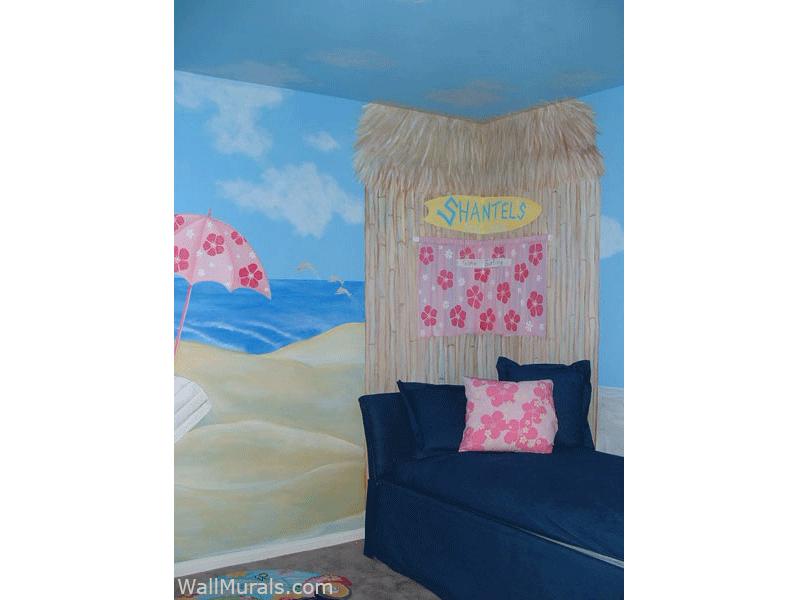Surf Shack Wall Mural - Girls Room