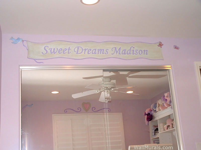 Name Painted on Wall -  Little Girls Bedroom