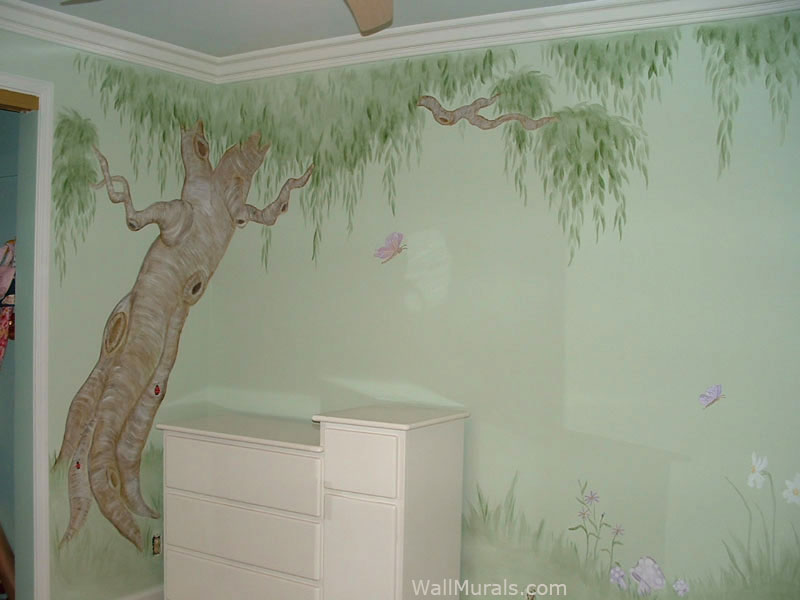 Tree Wall Mural in Girls Room